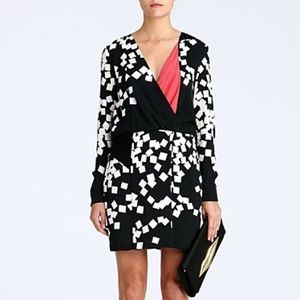 DVF Silk Magnolia Sheath Dress